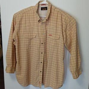Orvis Trout Bum button down cotton shirt xxl